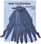 Lock slim jims and car openers for Honda jiggler key